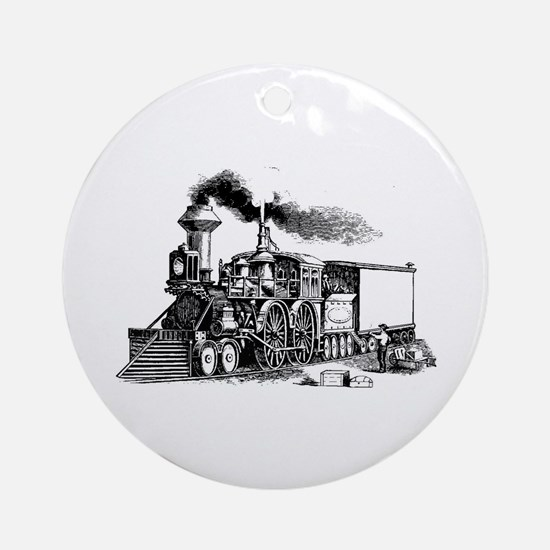 Steam Engine Ornament (Round)