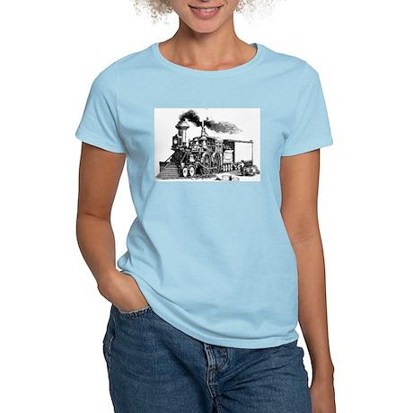 Steam Engine Women's Pink T-Shirt