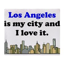 Los Angeles Is My City And I Love It Throw Blanket