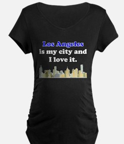 Los Angeles Is My City And I Love It Maternity T-S