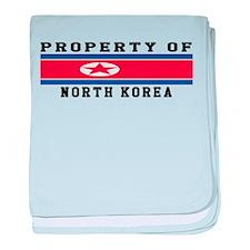 Property Of North Korea baby blanket