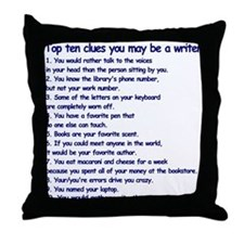 Writer Clues Writing Throw Pillow