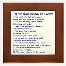 Writer Clues Writing Framed Tile