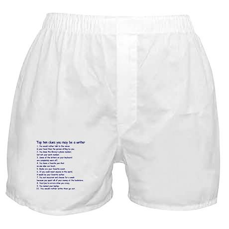 Writer Clues Writing Boxer Shorts