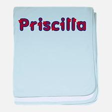 Priscilla Red Caps baby blanket