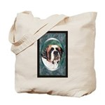 Saint Bernard Dog Designer Tote Bag 1