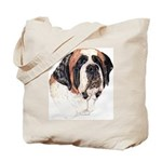 Saint Bernard Dog Portrait Tote Bag