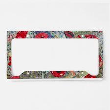 Poppy Fields License Plate Holder