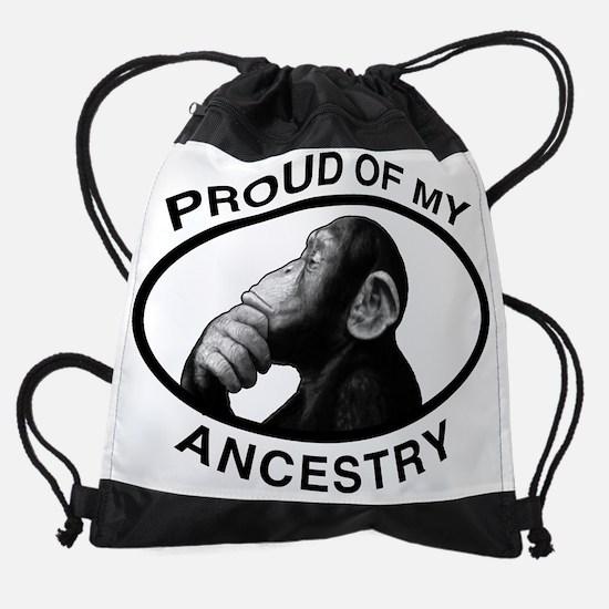 3-proud ancestry chimp bt.png Drawstring Bag