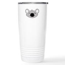Koala Face (txt) Travel Mug