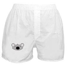 Koala Face (txt) Boxer Shorts