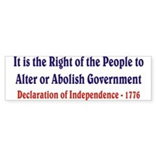 Right of the People Bumper Bumper Sticker