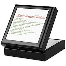 Writer's 12 Days of Christmas Keepsake Box