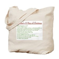Writer's 12 Days of Christmas Tote Bag