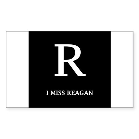 I Miss Reagan Rectangle Sticker