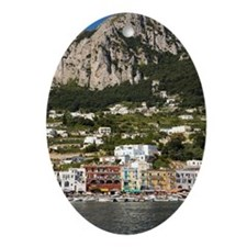 Marina Grande Harbor, Capri, Italy Ornament (Oval)