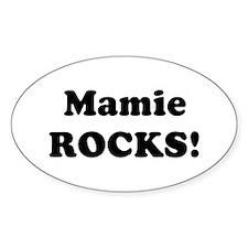 Mamie Rocks! Oval Decal
