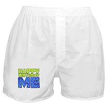 Happy Bday Me (blue) Boxer Shorts