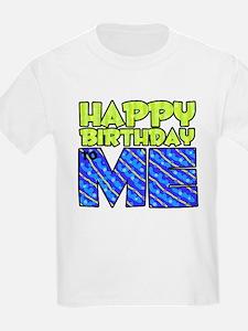 Happy Bday Me (blue) Kids T-Shirt