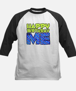 Happy Bday Me (blue) Kids Baseball Jersey
