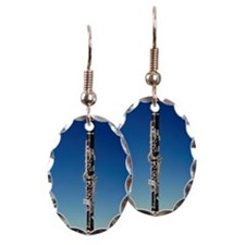 Clarinet standing upright Earring