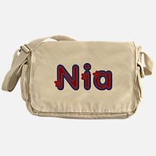 Nia Red Caps Messenger Bag