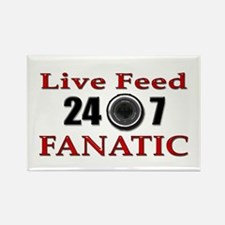 Live Feed Fanatic Rectangle Magnet