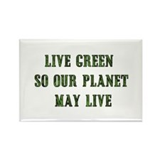Live Green Rectangle Magnet (10 pack)