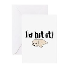I'd hit it! seal clubbing Greeting Cards (Package
