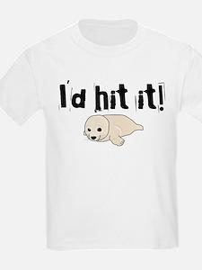 I'd hit it! seal clubbing Kids T-Shirt