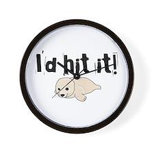 I'd hit it! seal clubbing Wall Clock
