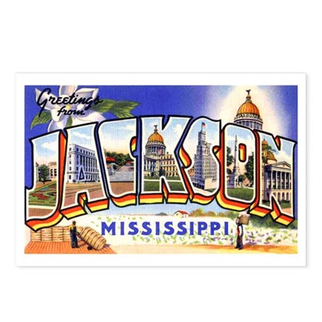 Jackson Mississippi Greetings Postcards (Package o