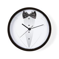 Tuxedo (grey) Wall Clock