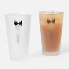 Tuxedo (grey) Drinking Glass