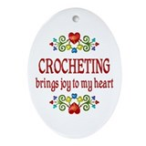 Crocheter Oval Ornaments