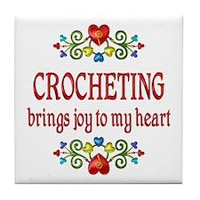Crocheting Joy Tile Coaster