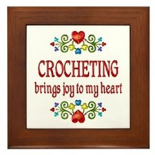 Crocheting Joy Framed Tile