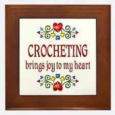 Crocheting Joy Framed Tile