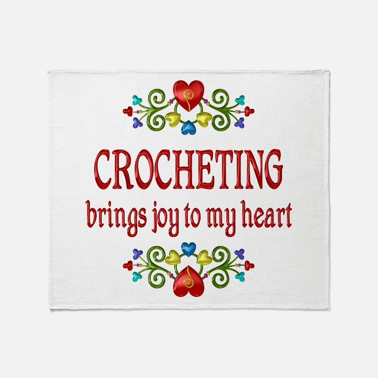 Crocheting Joy Throw Blanket