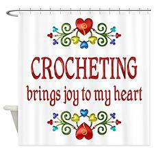 Crocheting Joy Shower Curtain