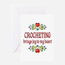 Crocheting Joy Greeting Card