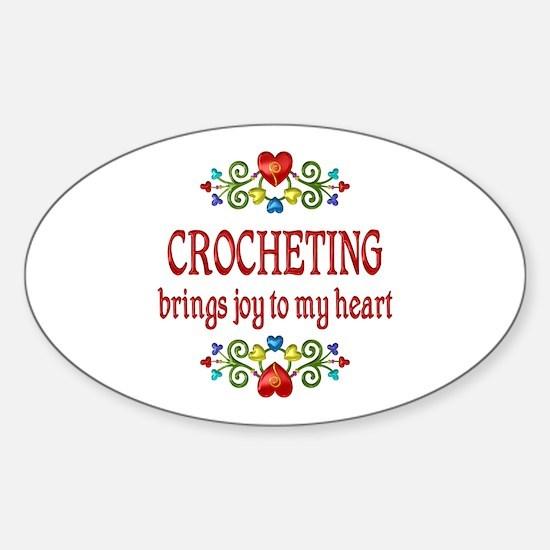 Crocheting Joy Sticker (Oval)