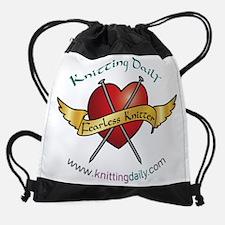 Cute Knitting daily Drawstring Bag