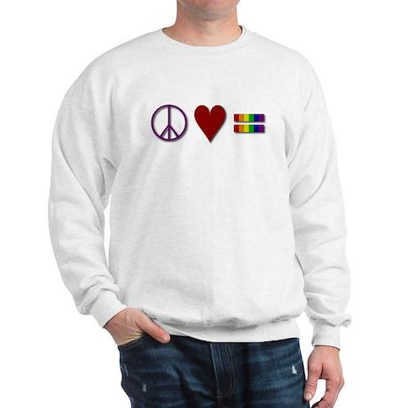 Peace, Love, Equality Sweatshirt