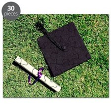 Mortarboard and diploma Puzzle