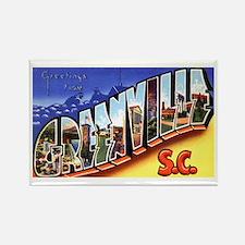 Greenville South Carolina Greetings Rectangle Magn