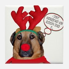 Boxer Christmas Tile Coaster