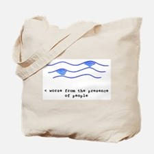 Whale Under Water Tote Bag