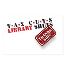 Tax Cuts_Library Shuts Postcards (Package of 8)