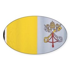 Close-up of the flag of the Vatican Decal